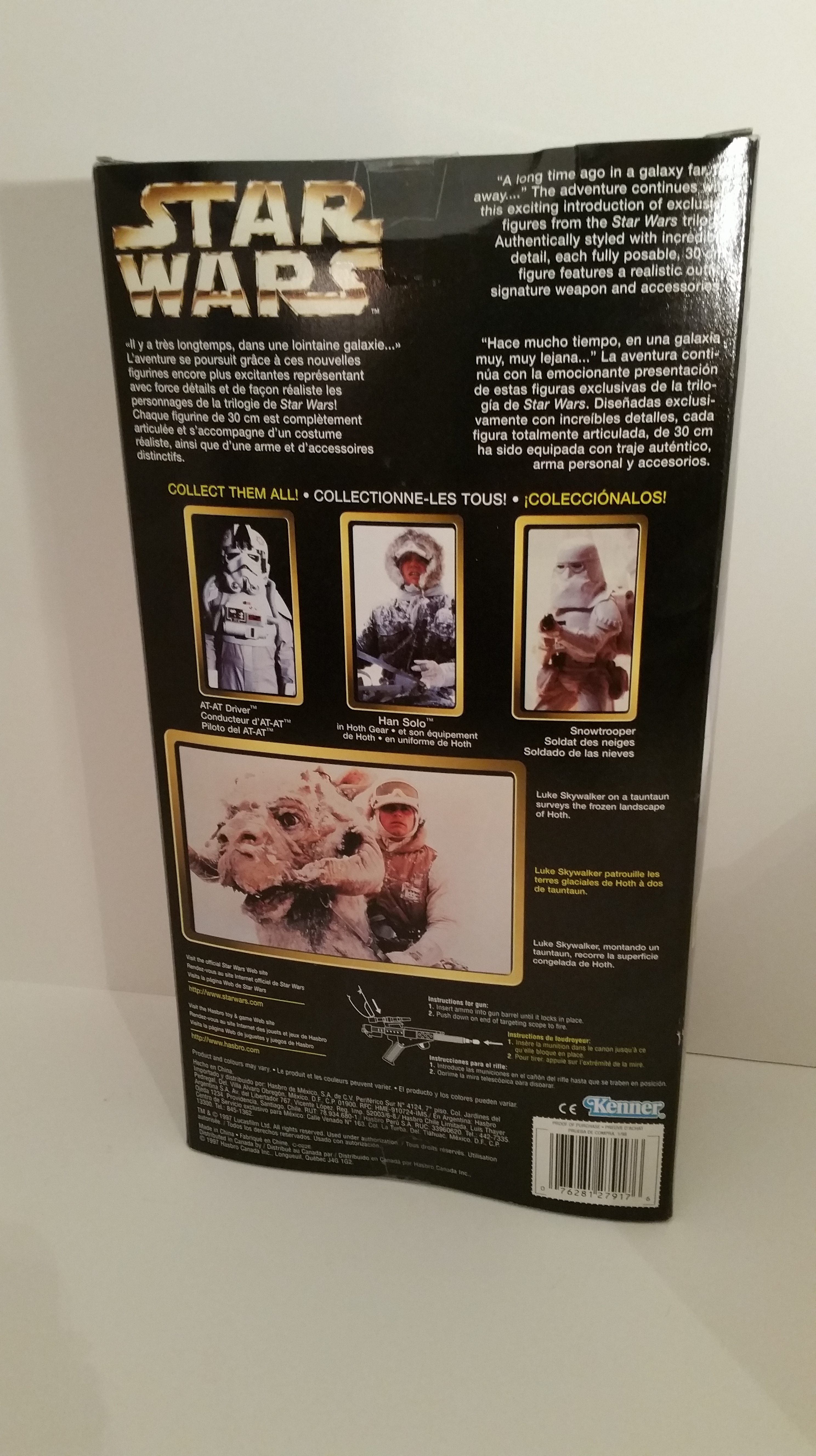 Figurine personnage Pilote rebelle Luke Skywalker Star Wars arme